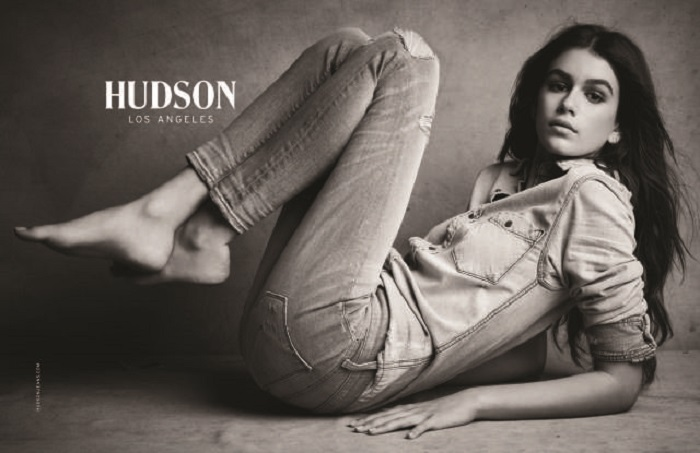 Kaia Gerber stars in the Hudson Jeans Fall/Winter 2017 Campaign