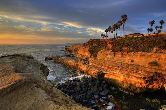 Praias na região de Point Loma em San Diego