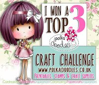 I'm a top 3 winner at Anything Goes Polkadoodles Challenge