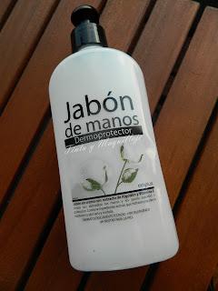 jabón de manos dermoprotector de algodón Deliplus