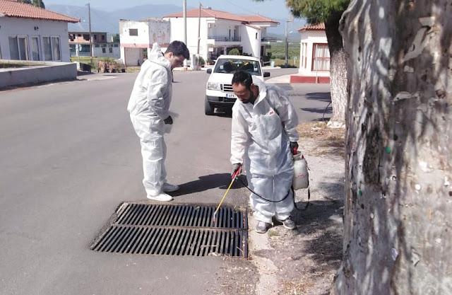Επιχείρηση κουνουποκτονίας εντός οικισμών από τον Δήμο Άργους Μυκηνών