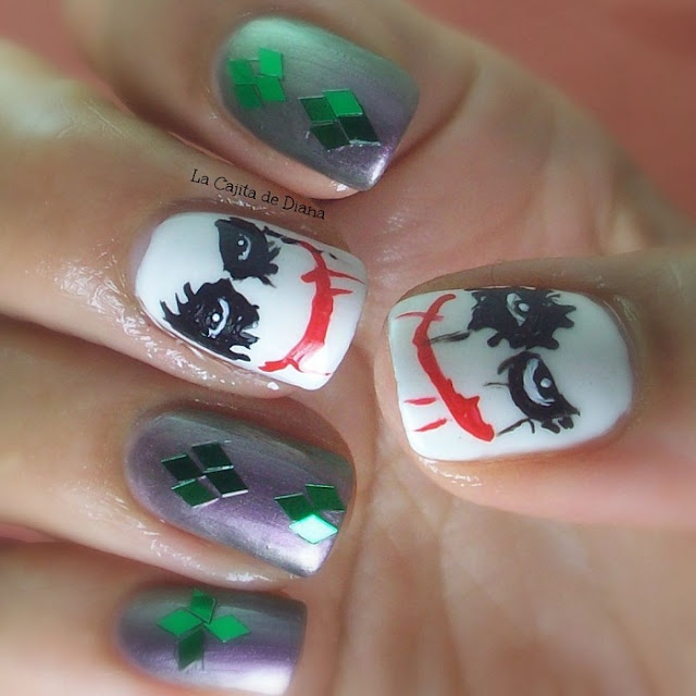 retovillanosysuperheroes-joker-nails