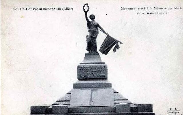 CPA monuments aux Morts de l'Allier, Saint Pourçain sur Sioule