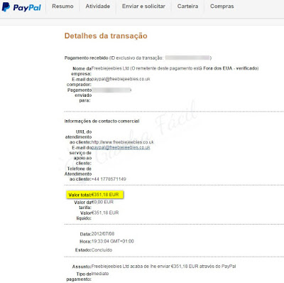 freebiejeebies paypal pagamento