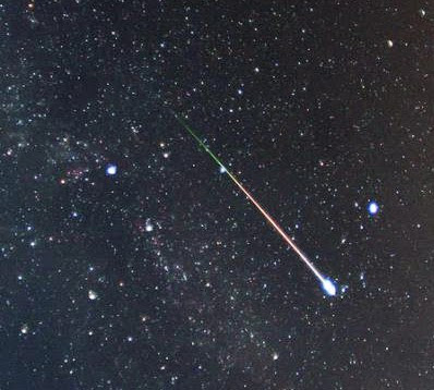 Lyrid meteor photographed back in the 2012 shower