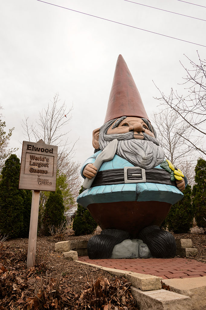 Elwood, World's Largest Concrete Gnome, Aimes, IA