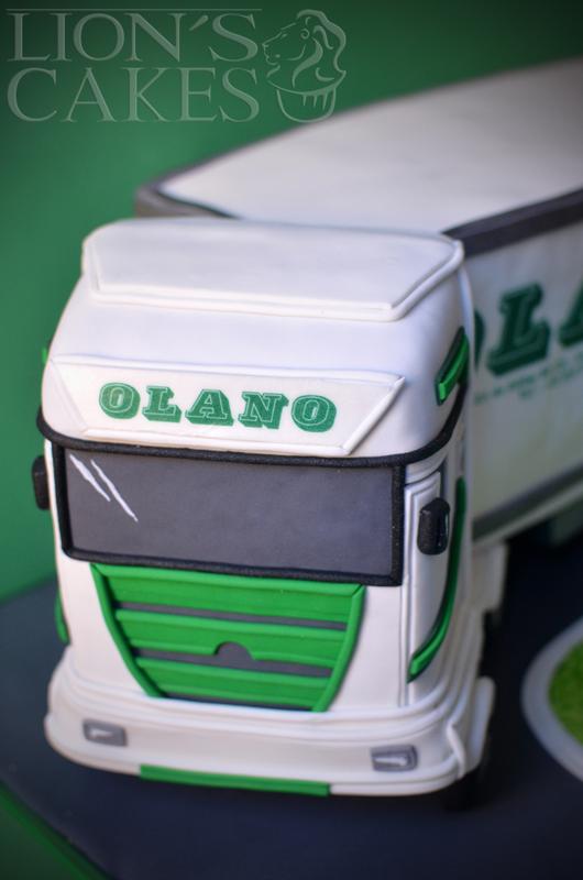 Gâteau Camion OLANO par Lion's Cakes