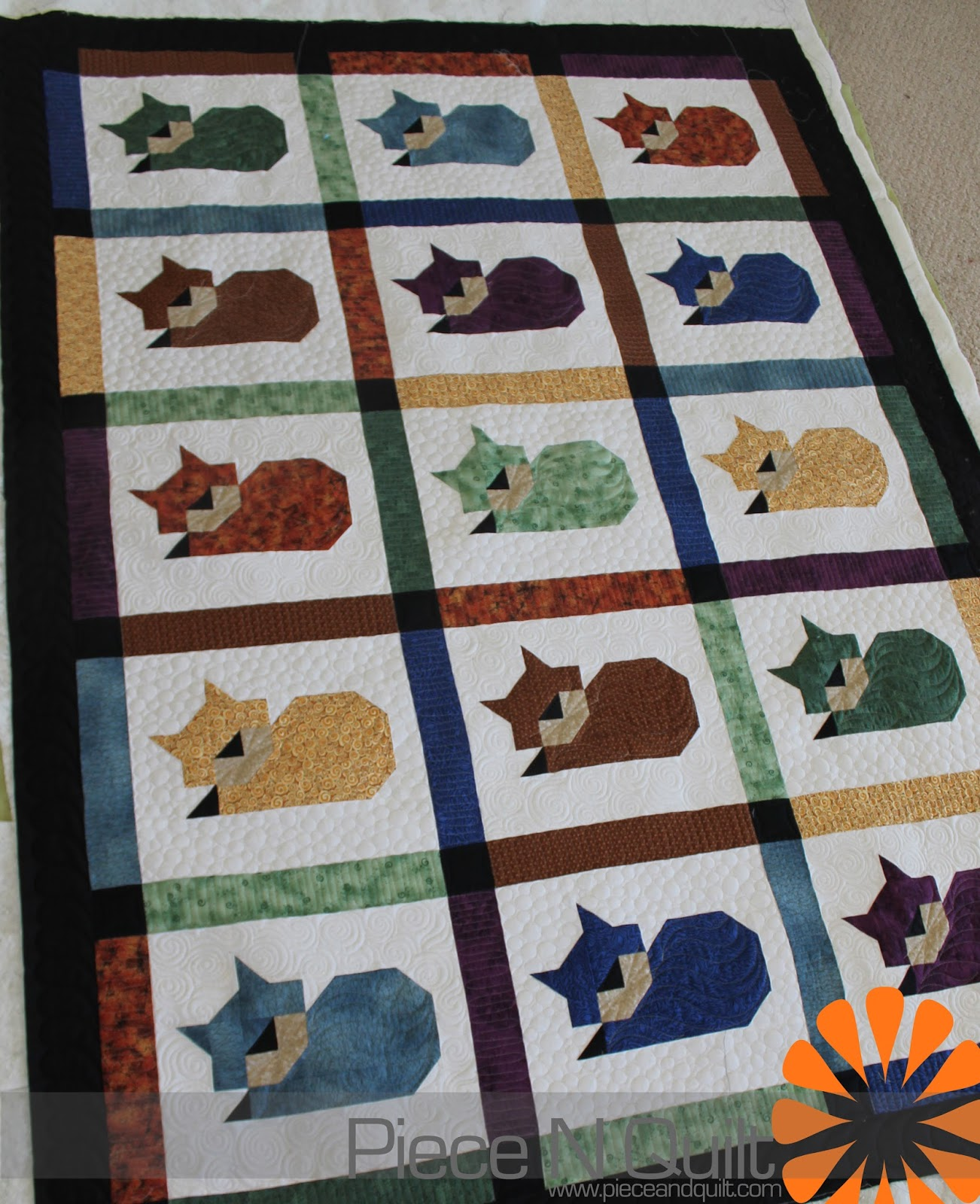 Piece N Quilt Cat Quilt With An Awesome Story