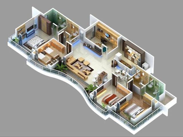 Desain Rumah Minimalis Bentuk Memanjang
