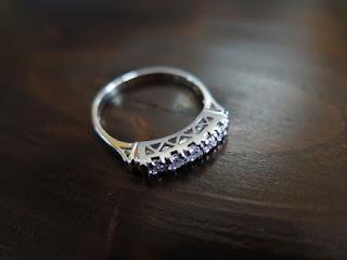 408:昭和ジュエリー シングルカット ダイヤモンド(計0.13ct) 一文字 リング #10.5