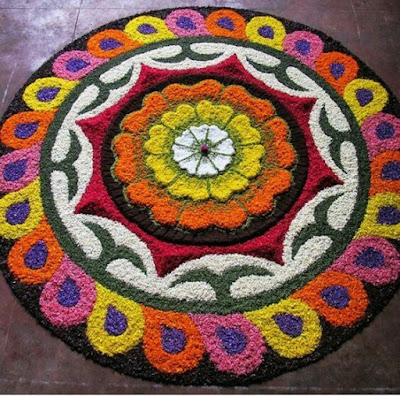 latest flower rangoli designs