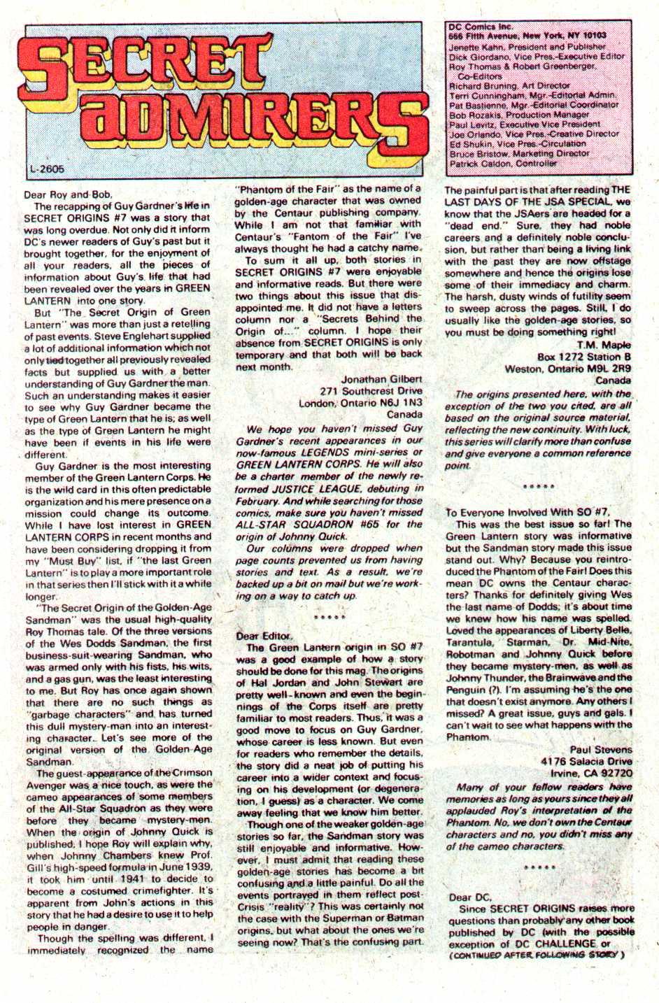 Read online Secret Origins (1986) comic -  Issue #12 - 18