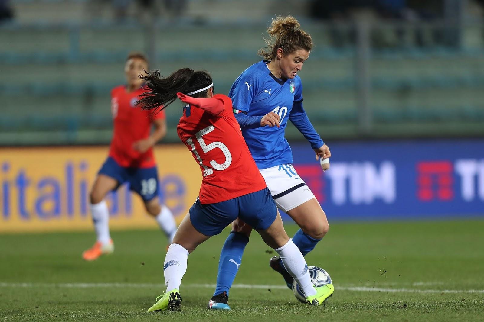 Italia y Chile en partido amistoso femenino, 18 de enero de 2019