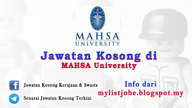 Jawatan Kosong di MAHSA University