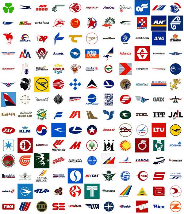 Red White And Blue Airline Logos And Names