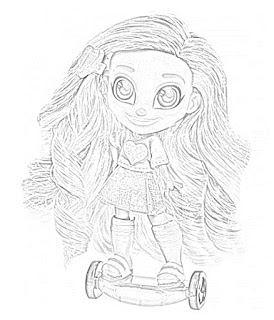 Coloring Pages: Hairdorables Coloring Pages Free and