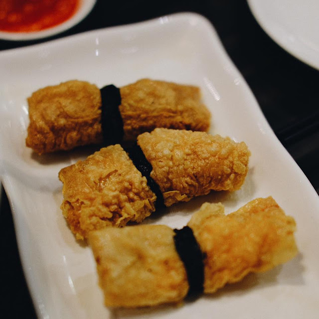 Deep Fried Bean Curd Skin Roll with Shrimp