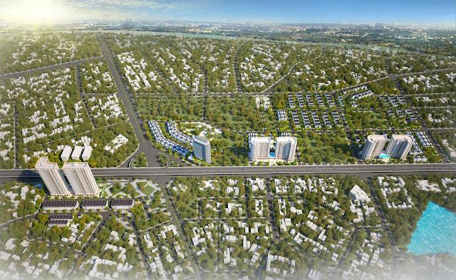 Cảnh quan khu đô thị Tây Nam Kim Giang