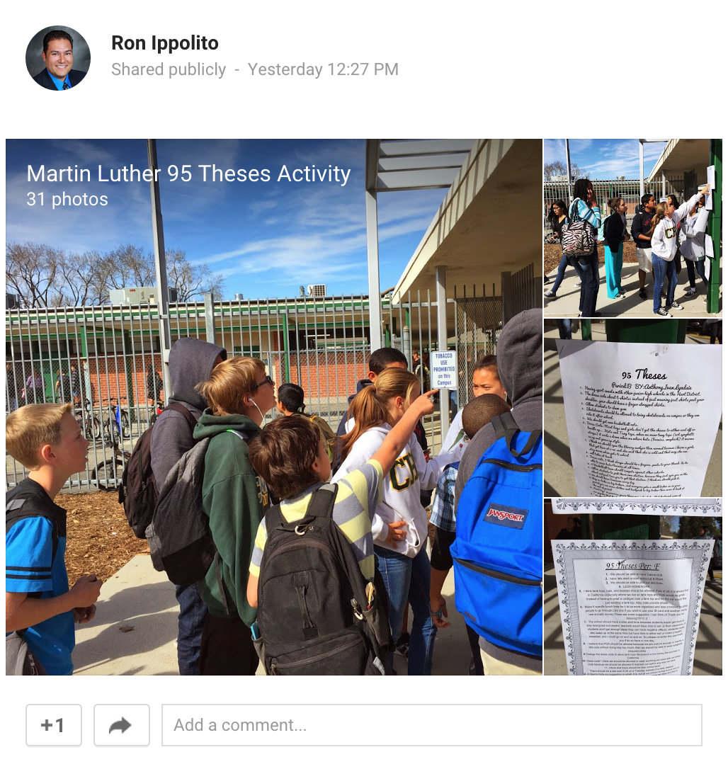 Mrippolito Photos From Martin Luther 95 Theses Activity
