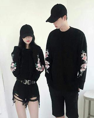 outfits en pareja negro tumblr casual