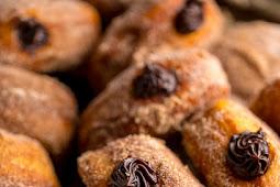 Chocolate Hazelnut Cream Doughnuts