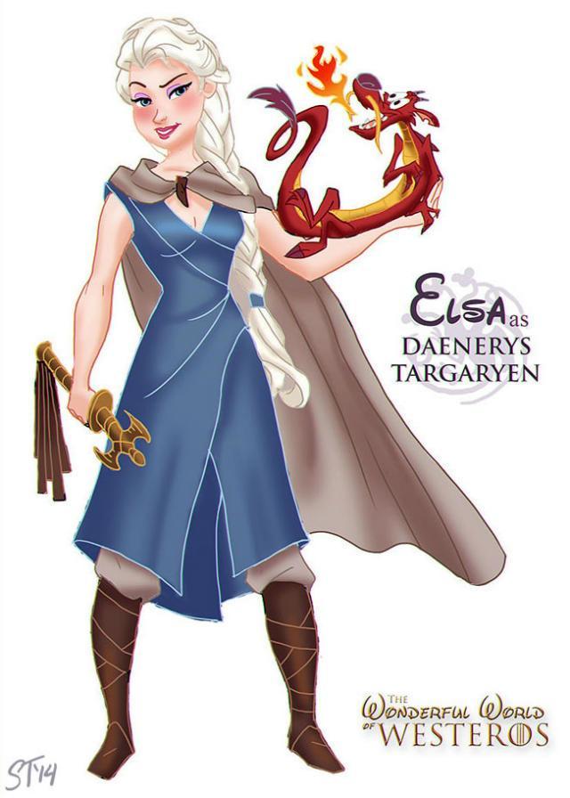 Princesas Disney em Game of Thrones