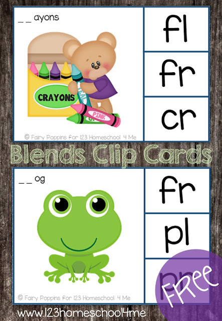 practice blends with these free printable activity for 1st grade and 2nd grade kids
