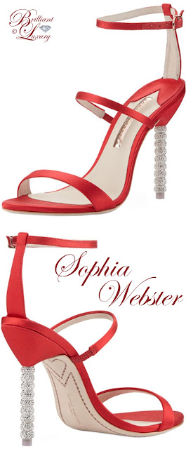 Brilliant Luxury ♦ Sophia Webster Rosalind satin sphere-heel sandals