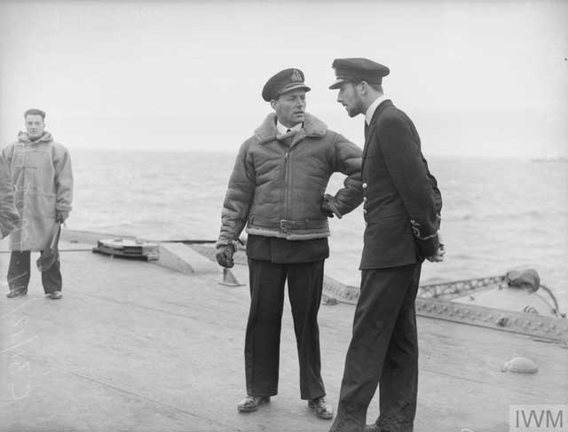 Royal Navy officers on HMS Victorious, 28 December 1941 worldwartwo.filminspector.com
