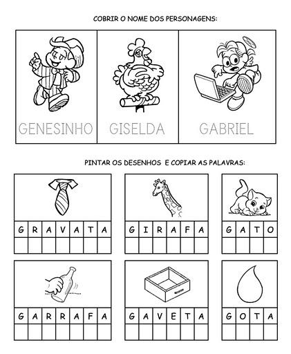 Atividades Para Imprimir Familia Silabica Letra G So Escola
