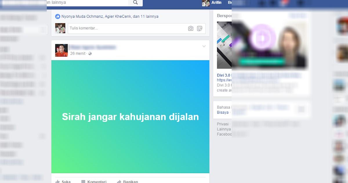 Cara Membuat Status Fb Dengan Background Warna Warni