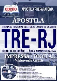 Apostila PDF TRE-RJ (Técnico Judiciário) Grátis testes