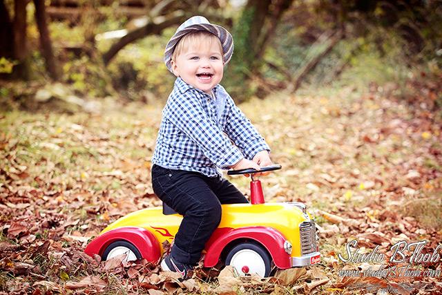 Photo d'enfant en automne