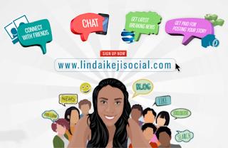 Linda Ikeji Social networking