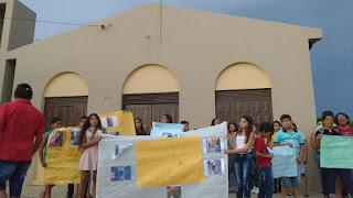 Protesto por justiça e segurança em Serra dos Brandões
