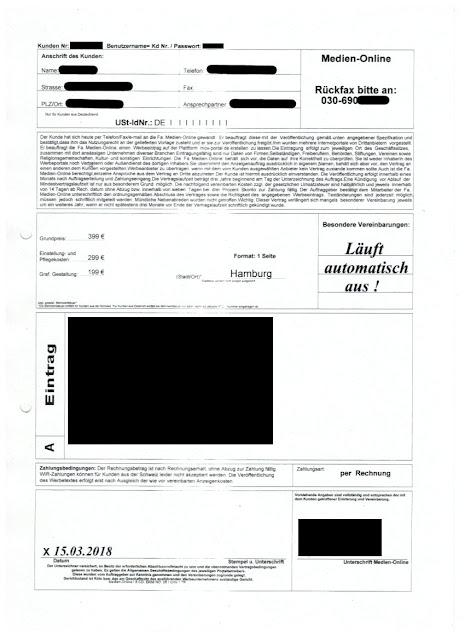 """Scan: """"Fa. Medien-Online"""" Formular für mov-portal.de / I.K.Mediendienst GmbH"""