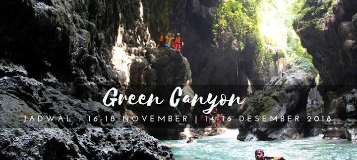wisata selama 3 hari 2 malam diwilayah green canyon, pangandaran, batu hiu dan batu karas