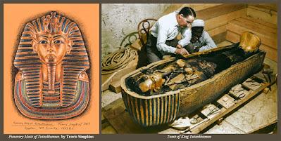 Ancient Egyptian Mask of King Tutankhamun. by Travis Simpkins. Archaeologist Howard Carter