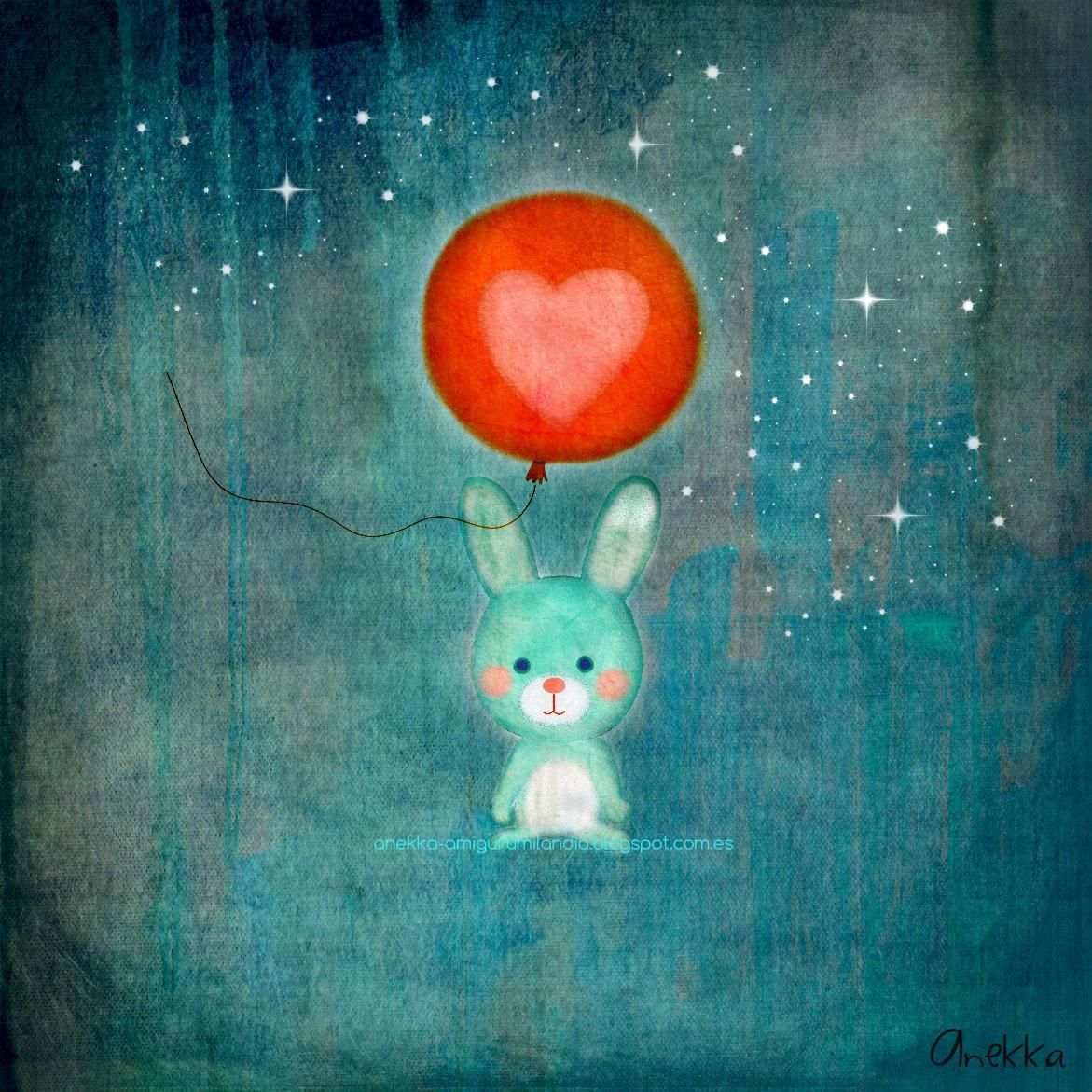 celebrando San Valentin, ilustración