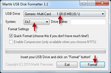 Martik USB Disk Formatter software,flash drive format tool,memory format tool ,repair,format tool,best format tool.best format software