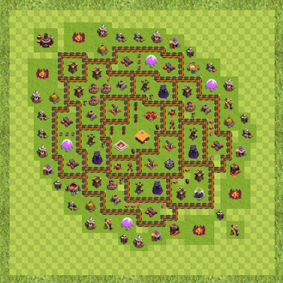 War Base Town Hall Level 10 By Miraziz Kosimov (Base3 TH 10 Layout)
