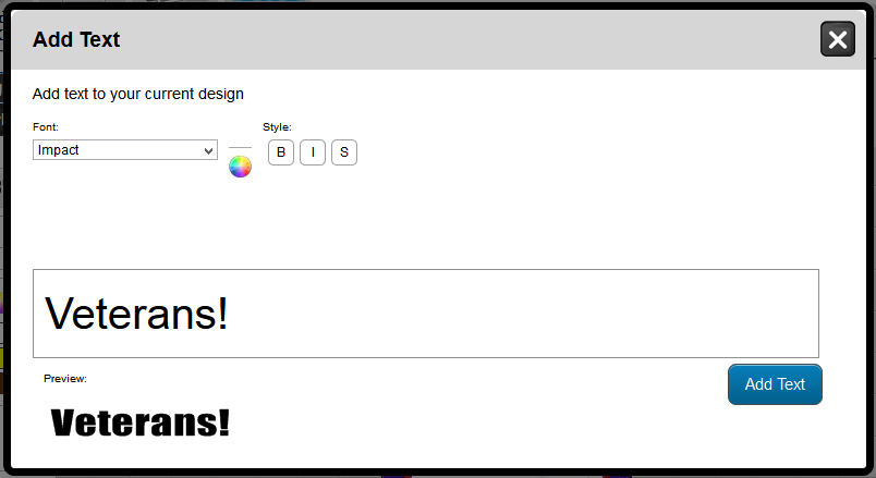 Adding Text in the Online Designer | Banners.com