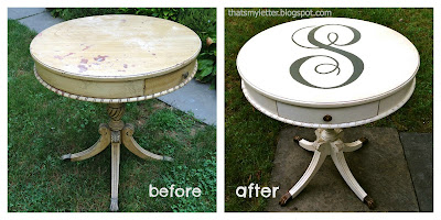 round side table before and after