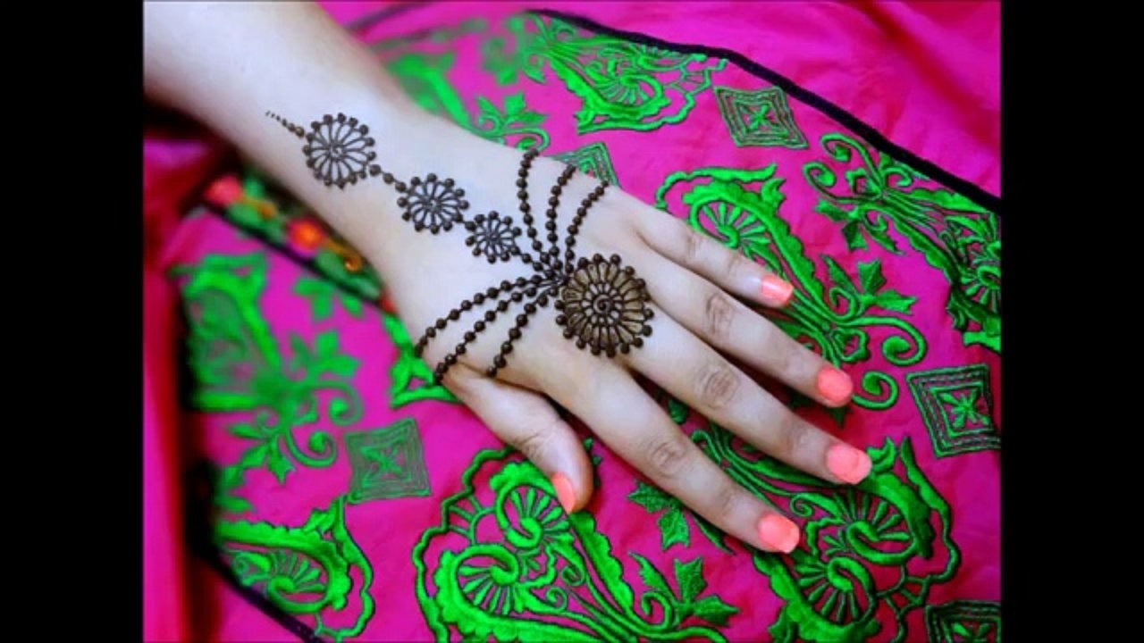Cute Arabic Mehendi Designs For Hands
