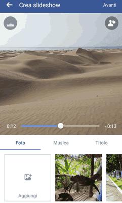 Come creare uno slideshow di foto e musica con facebook