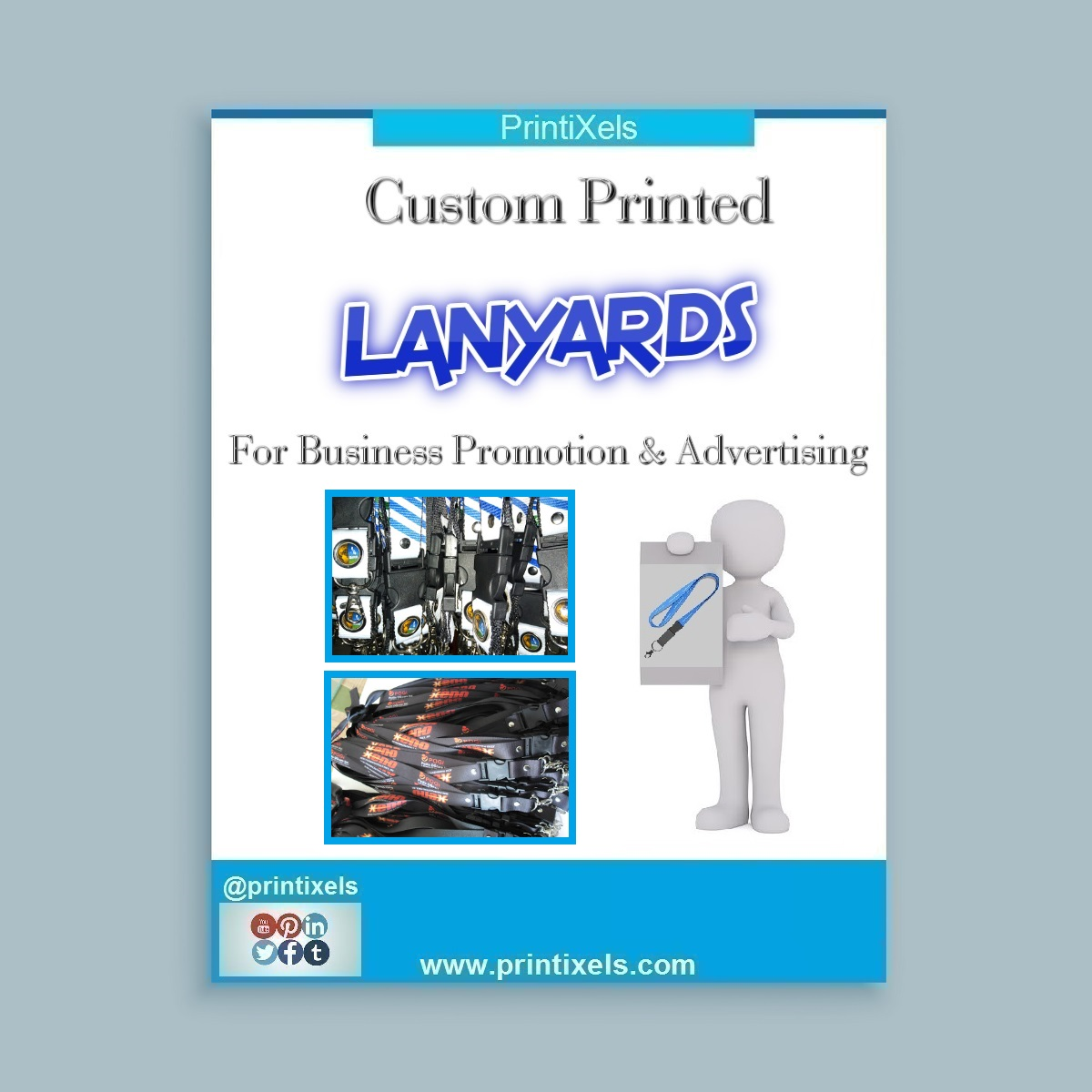 Custom Printed Lanyards For Business Promotion & Advertising