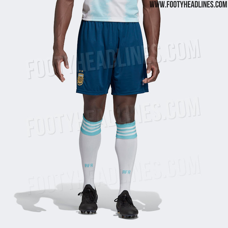 80e5559ac9 Blue Shorts: Argentina 2019 Copa America Kit Released - Footy Headlines
