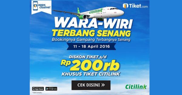 Promo Tiket Pesawat Murah Citilink April 2016