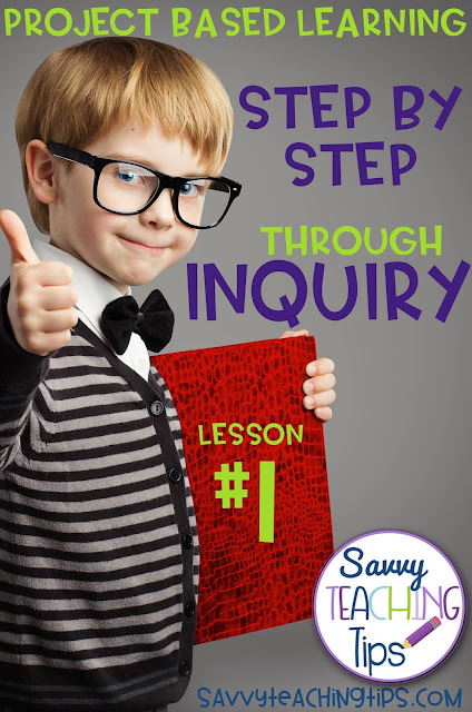 Inquiry Based Learning.  Here is a free step by step guide to teaching with inquiry.