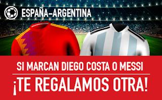 sportium promocion España vs Argentina 27 marzo